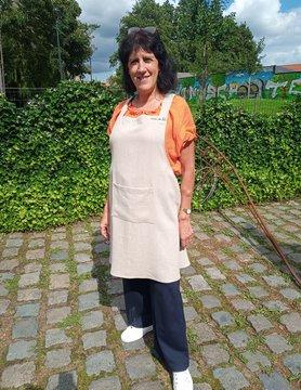 Le grenier du lin Japans schort in natuurlijk linnen