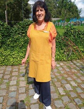 Le grenier du lin Japans schort in geel linnen