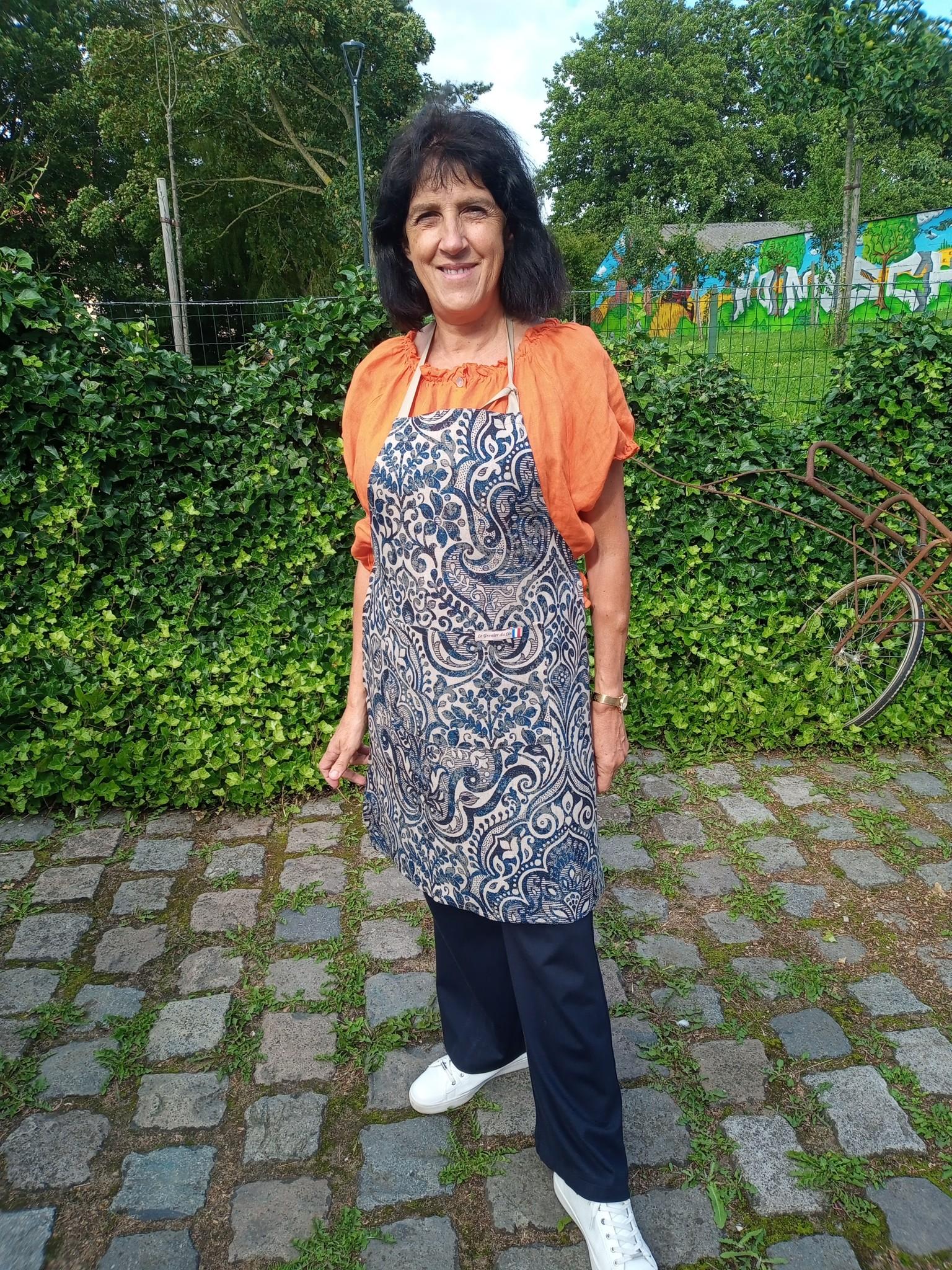 Le grenier du lin Linen apron noble fabric