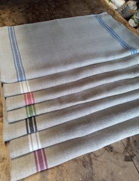 Rustic linen tea towel