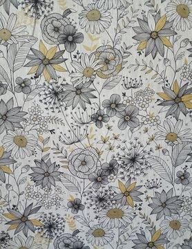 Tissu en lin daisygold