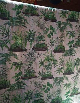 Tissu en lin  terrarium