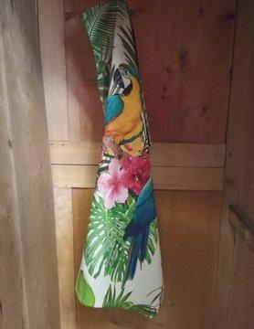 Torchon pur lin perroquet