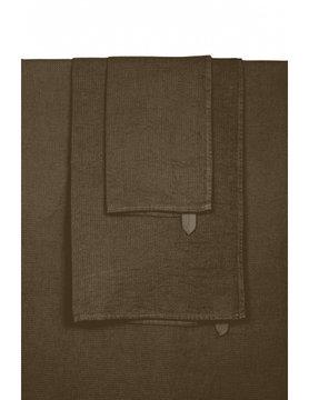 tobacco linen bath towel