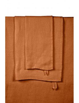karamel linnen handdoek