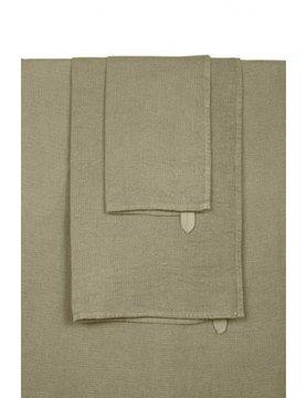 khaki linen bath towel