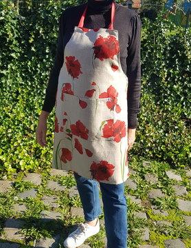 Le grenier du lin Poppy linen apron