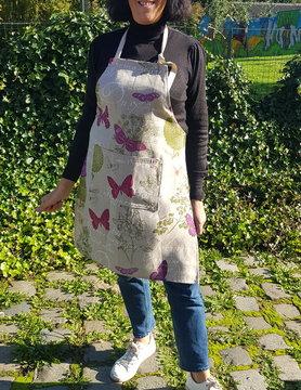 Le grenier du lin Butterfly linen apron