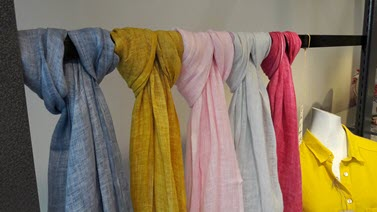 Linnen products like shirts,towels, fabrics
