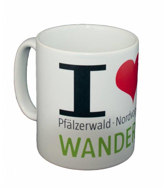 """I love Wanderarena"" Kaffeetasse Wanderarena"