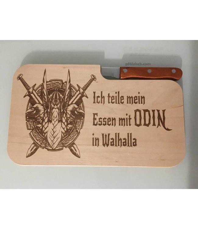 Schneidebrett mit Odin Branding inkl. Messer