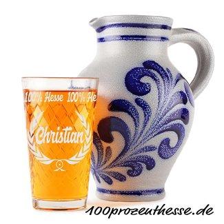 Apfelweinglas / Schoppenglas mit Namensgravur
