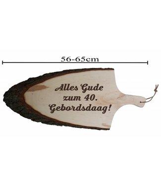 Griffrinde - Brotzeitbrett mit Griff und Rinde - 56 - 65 cm