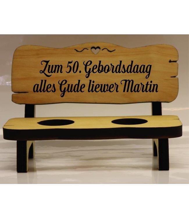 Schnapsbank Geburtstag 2, 4 oder 6 Gläser (Pfälzisch)