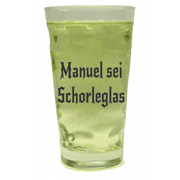 Schorleglas mit Name