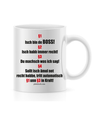 Isch bin de BOSS (Pfälzer Tasse)