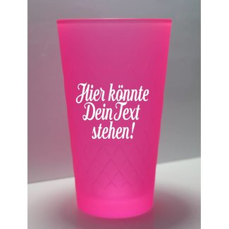 Apfelweinglas Pink-Neon