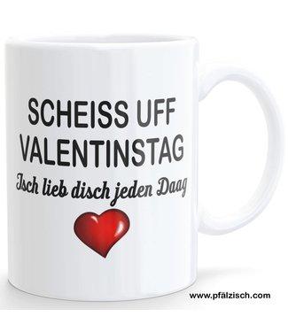 Valentinstag Tasse (Pfälzisch)
