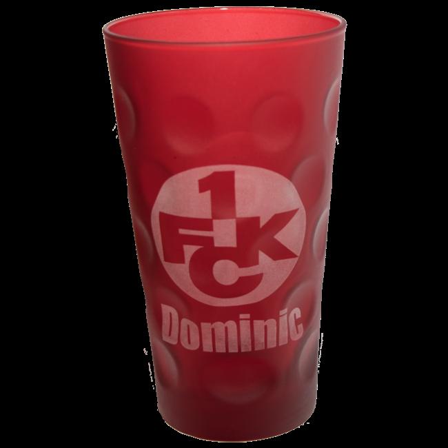 1. FC Kaiserslautern Dubbeglas mit Name