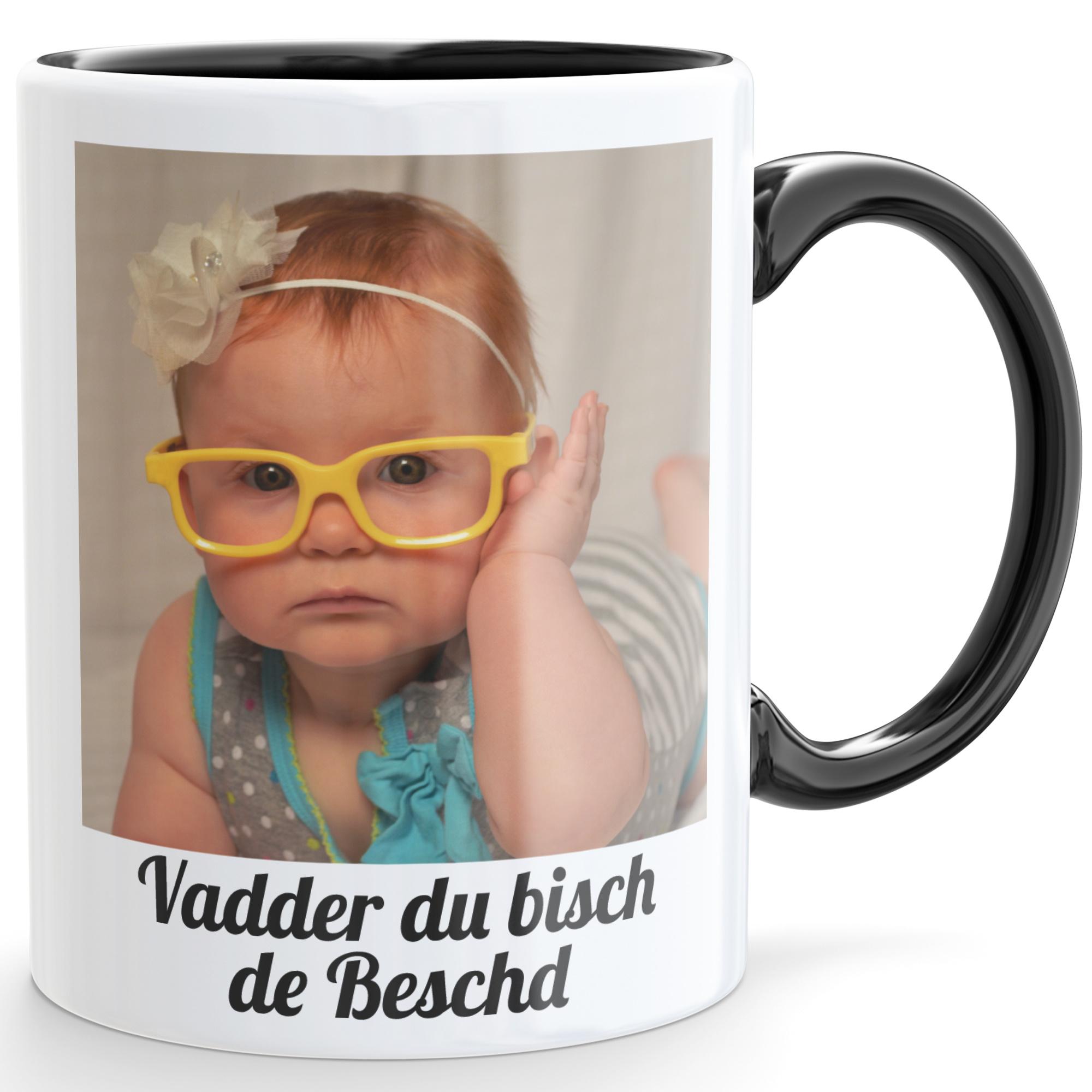 be56740cc2 Kaffeetasse mit Foto und Dialekt auf Pfälzisch - Dubbeglas Shop