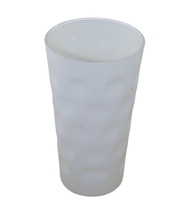 Dubbeglas weiß matt