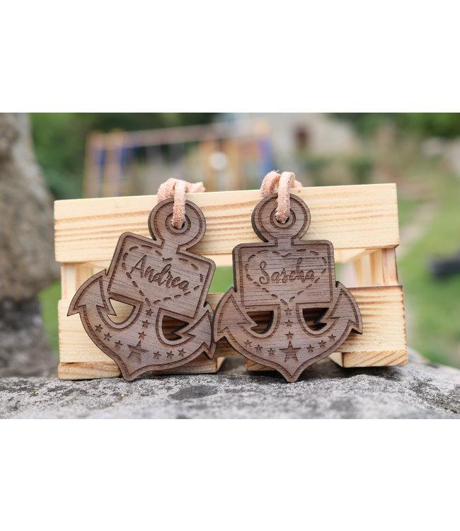 Schlüsselanhänger mit Gravur (Holz)