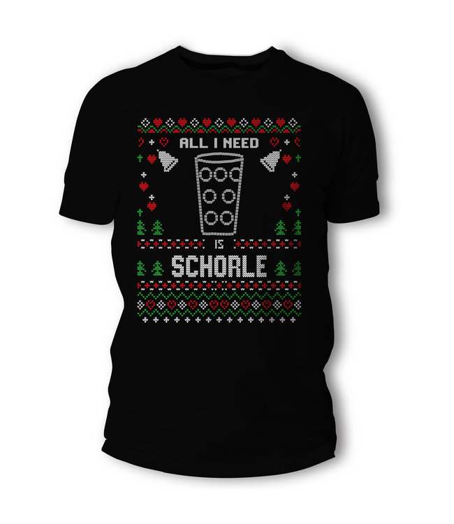 All i need is Schorle - Pfälzer Weihnachts T-Shirt / Pullover