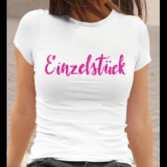 Einzelstück T-Shirt  (Damen & Herren T-Shirt mit Farbauswahl)