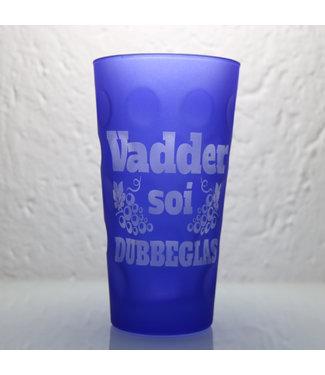 Blaues Dubbeglas mit Wunschgravur (blau matt)