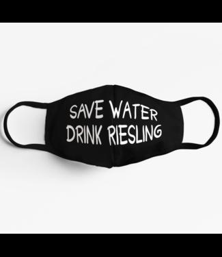 Save Water drink Riesling Maske