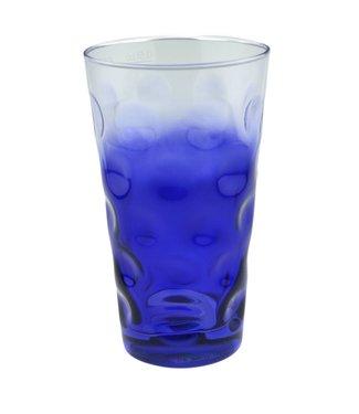 Dubbeglas Blau (3/4 farbig)