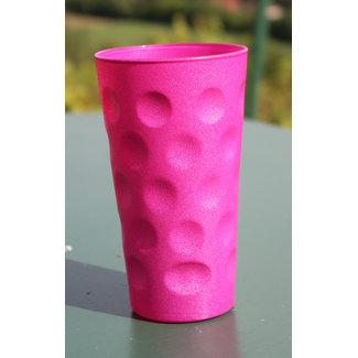 Dubbeglas Pink Glitzer