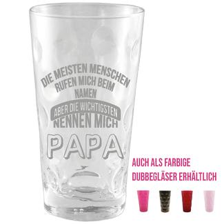 Dubbeglas für Papa, Mama, Opa, Oma, Onkel...