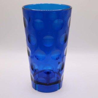 Dubbeglas Plastik blau 0,5l stapelbar