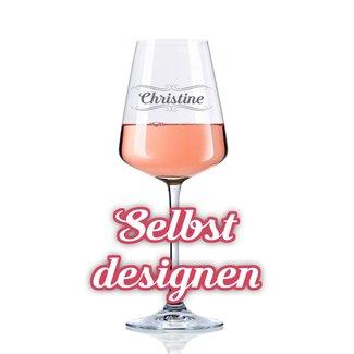 Rotweinglas mit Gravur 37cl