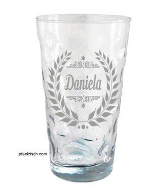 Dubbeglas mit Namensgravur