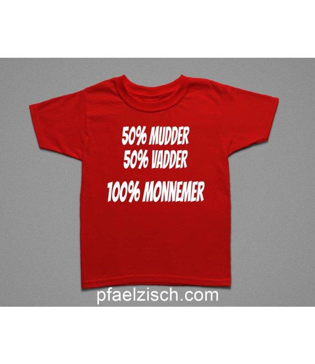 100% MONNEMER/IN (Kinder T-Shirt)