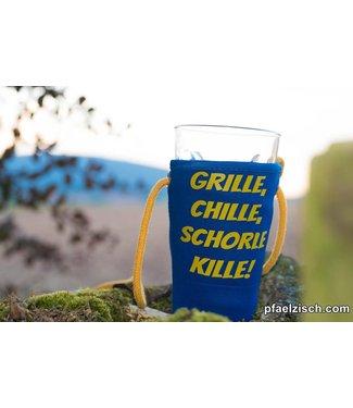 Pfälzer Schorlehalter bedruckt (GRILLE CHILLE SCHORLE KILLE)