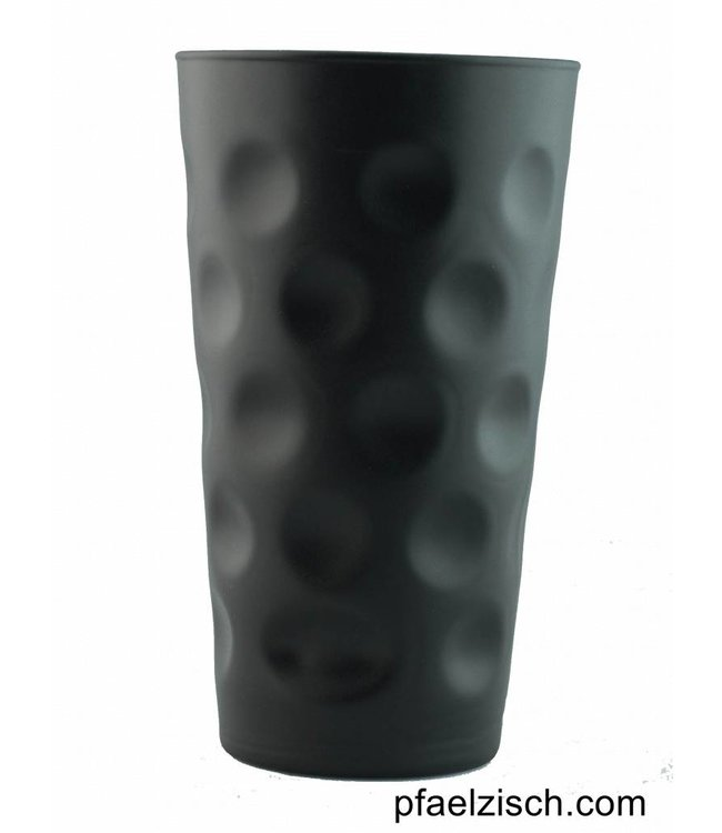 Dubbeglas Schwarz matt