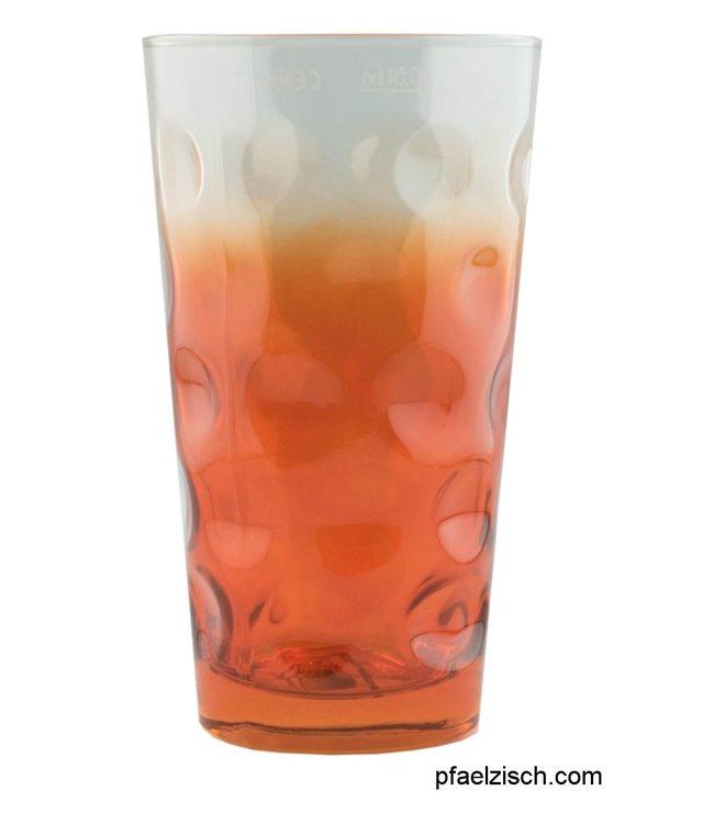 Dubbeglas orange (3/4 farbig)