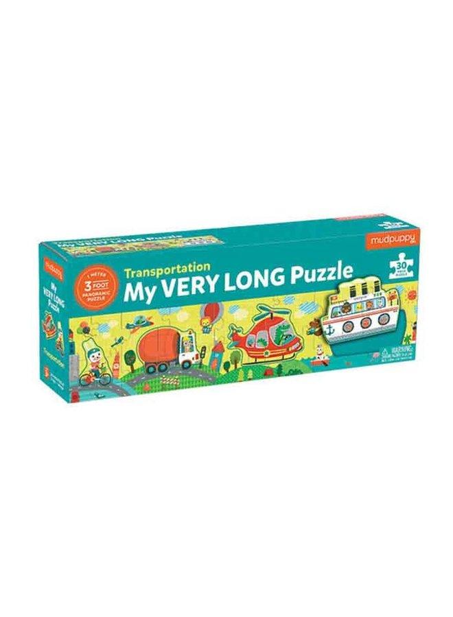 "Lange puzzel 30 stukjes ""Transportation"""