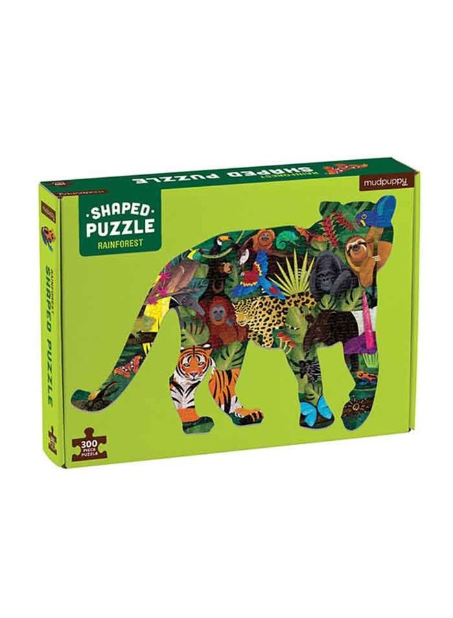 "Shaped Puzzel 300 stukjes ""Rainforest"""