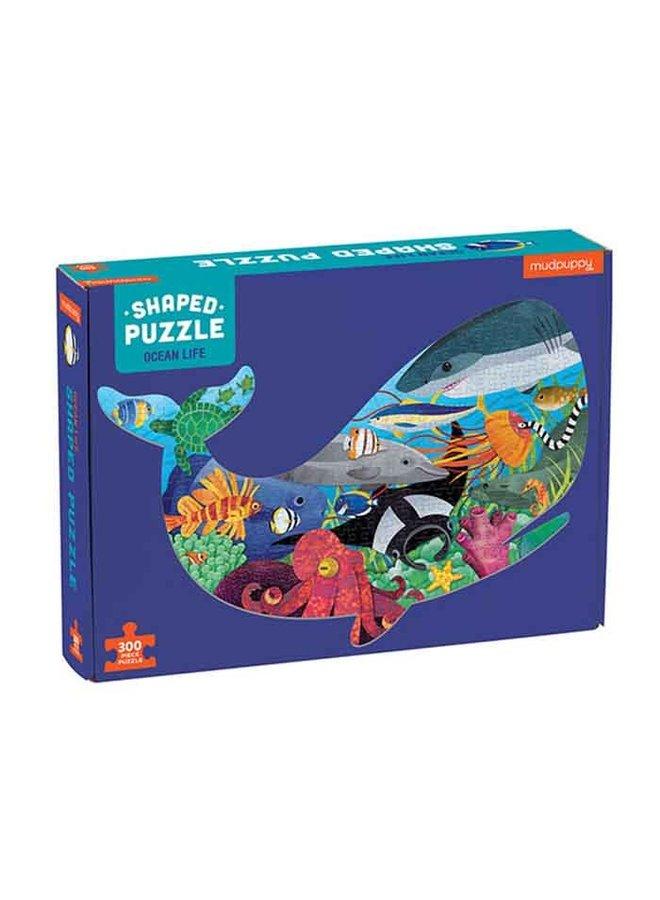 "Shaped Puzzel 300 stukjes ""Ocean life"""