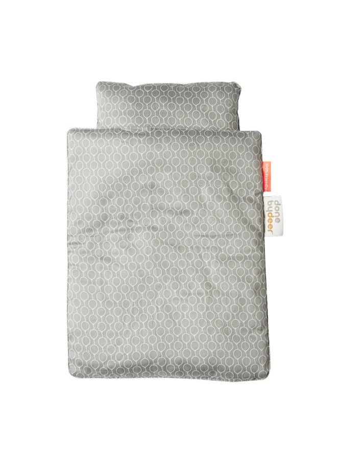 Dolls bed bedlinen, grey