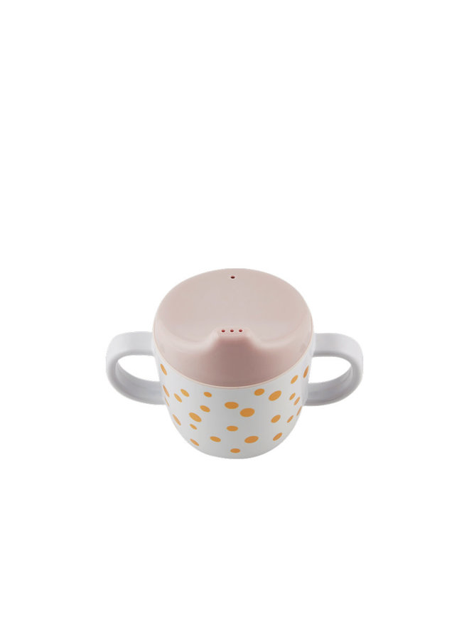 Spout cup, Happy dots, gold/powder