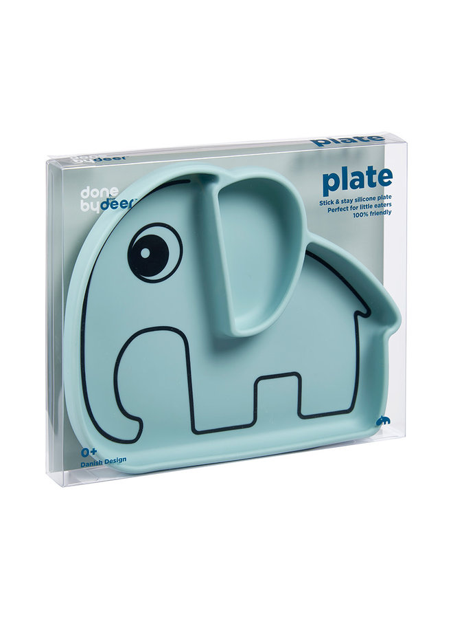 Silicone stick&stay plate, Elphee, blue