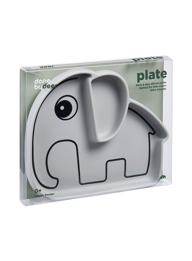 Silicone stick&stay plate, Elphee, grey
