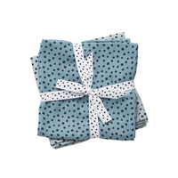 Done by deer Burp cloth, 2-pack, Happy dots, Blue