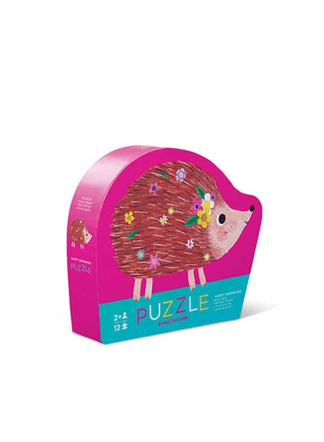 12pc Mini Puzzle Happy Hedgehog