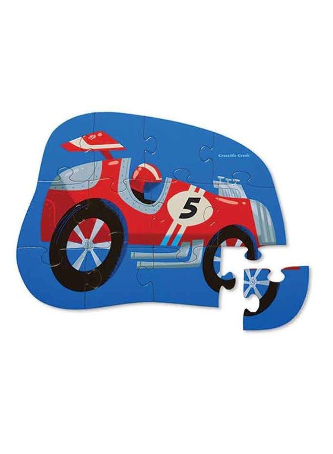 12pc Mini Puzzle Race Car